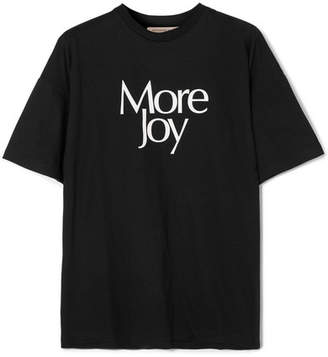 Christopher Kane Printed Cotton-jersey T-shirt - Black