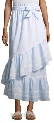 Jonathan Simkhai Stripe Cotton Coverup Skirt