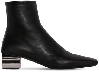 Balenciaga 50MM TYPO LEATHER ANKLE BOOTS
