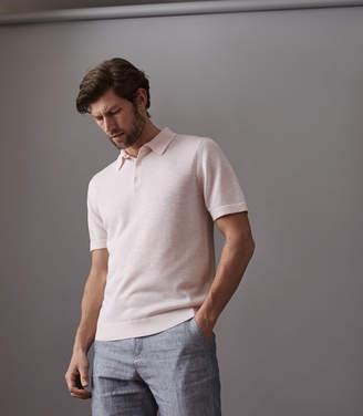 Reiss Arbor Melange Short Sleeved Polo