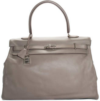 fc02536d6ee9 Hermes Grey Swift Leather 50Cm Kelly Phw