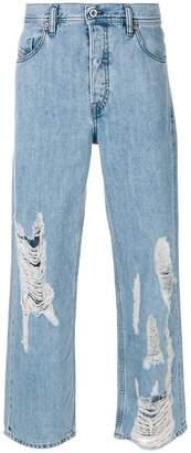 Diesel distressed loose-fit jeans