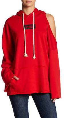 Love + Harmony Hoodie With Single Shoulder Cut Out