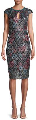 Jax BLACK LABEL Women's Multicolored Lace Sheath Dress