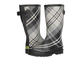 Western Chief French Plaid Wide Calf Women's Rain Boots