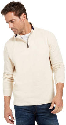 Club Room Men Quarter-Zip French Rib Pullover Sweater