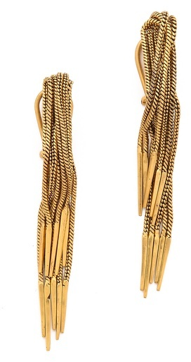 A Peace Treaty Ajinil Multi Chain Fringe Earrings