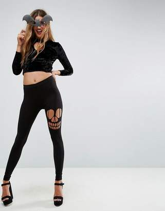 Asos HALLOWEEN Legging with Skull Rip
