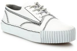 Alexander Wang Perry Leather Low-Top Sneakers $425 thestylecure.com