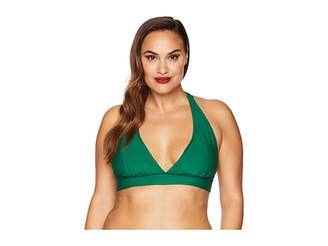 Unique Vintage Plus Size Lulu Halter Swim Top