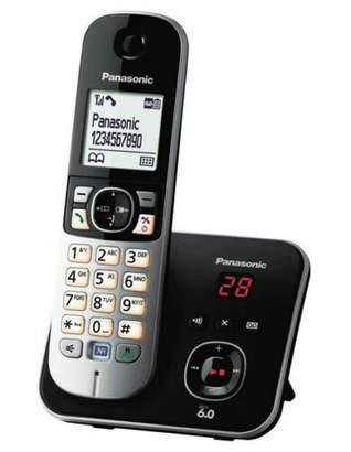 Panasonic NEW KX-TG6821ALB cordless phone with built in answering machine