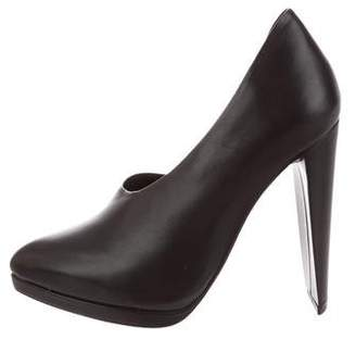 3.1 Phillip Lim Leather Platform Pumps