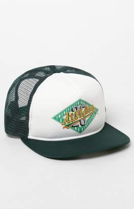 New Era Oakland Anniversary Snapback Trucker Hat