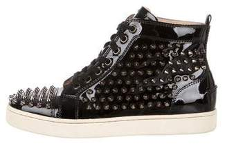 Christian Louboutin Patent Leather Spike Sneakers