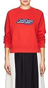 Fiorucci Women's Bowie Cotton Fleece Sweatshirt-Red