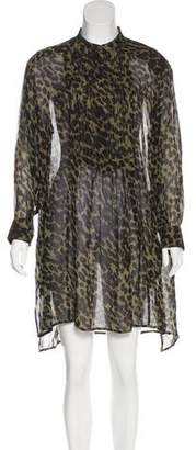 Etoile Isabel Marant Patterned Knee-Length Dress w/ Tags