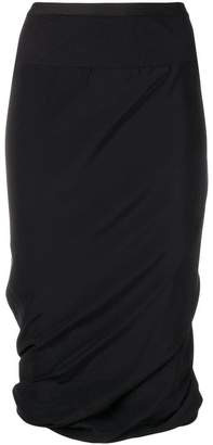 Rick Owens ruched pencil skirt