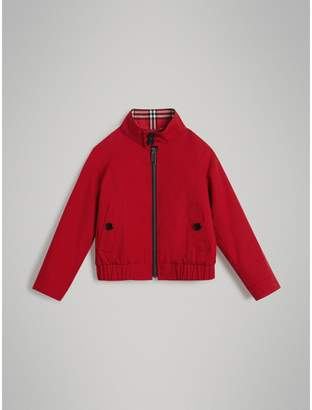 Burberry Childrens Reversible Check Cotton Harrington Jacket