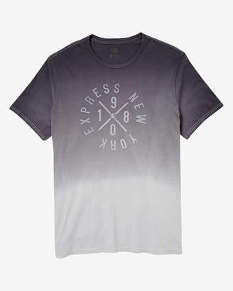 Express Dip Dye Circle Graphic T-Shirt