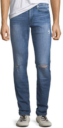 Frame Men's L'Homme Slim Pullman Ripped-Knee Jeans