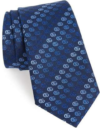 Gucci Soft Running GG Silk Tie