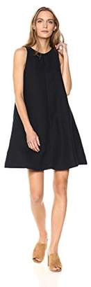 Three Dots Women's Woven Linen Sleeveless Short Dress