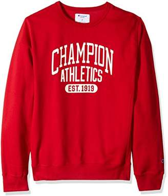 Champion Men's Big and Tall Fleece LS Crew with Screen Print