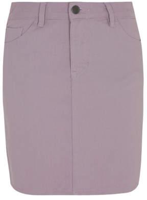 9591440711 George Lilac Denim A Line Mini Skirt