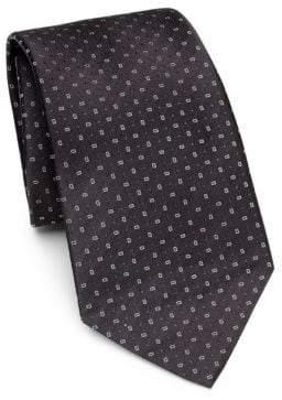 Emporio Armani Black Neat Silk Tie