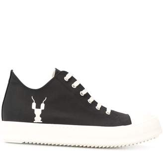 Rick Owens Gym embroidery sneakers