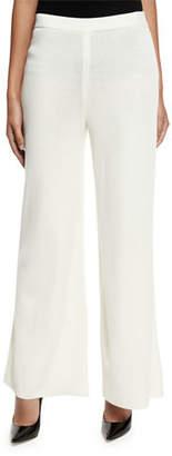 Misook Washable Wide-Leg Pants, Cream
