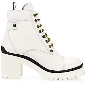 Miu Miu Women's Nevermind Block-Heel Platform Combat Boots