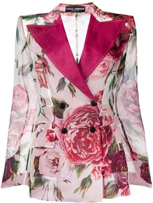 Dolce & Gabbana floral printed jacket