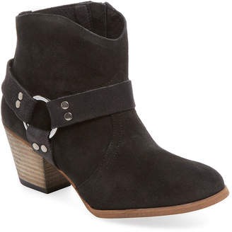 Firth Distressed Leather Harness Bootie