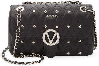 Mario Valentino Valentino By Studded Leather Shoulder Bag