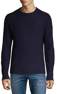 Black & Brown Black Brown Raglan-Sleeve Lambswool Sweater