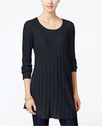 Style & Co. Ribbed Sweater Tunic, Only at Macy's $49.50 thestylecure.com