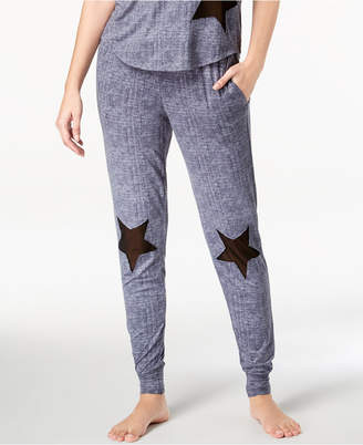 Lush Ande Luxe Mesh-Star Jogger Pajama Pants