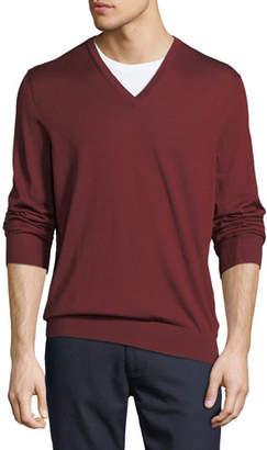 Ermenegildo Zegna Cashmere/Silk V-Neck Sweater