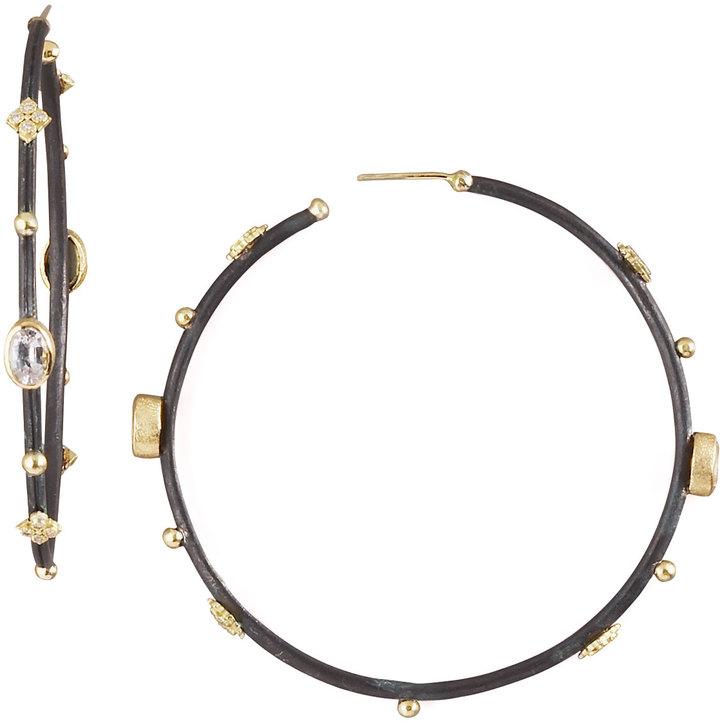 Armenta Sapphire Hoop Earrings