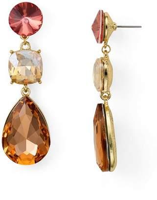 Aqua Three Stone Drop Earrings - 100% Exclusive