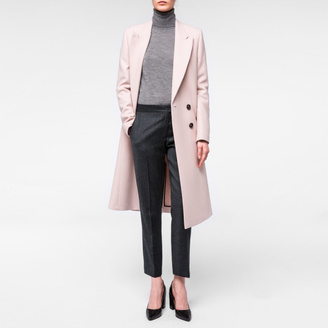 Women's Pale Pink Wool-Cashmere Double-Breasted Coat $795 thestylecure.com