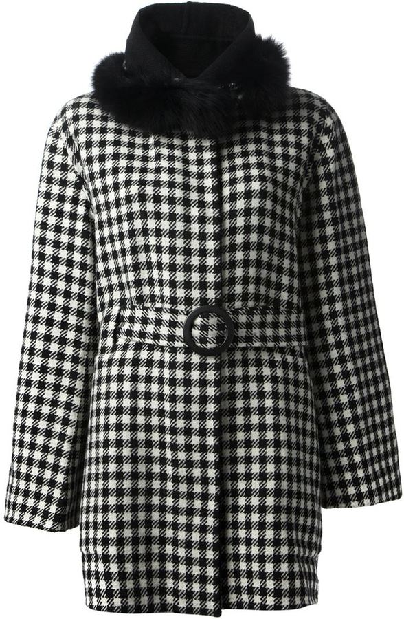 Tsumori Chisato faux fur trim coat
