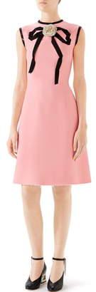 Gucci Cady Crepe Bow A-Line Dress
