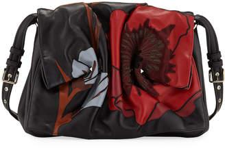Valentino Bloomy Floral Calf Leather Shoulder Bag