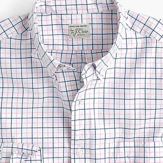 J.Crew Slim stretch Secret Wash shirt in light pink check