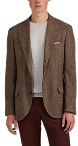 Brunello Cucinelli MEN'S WOOL-BLEND CHECKED THREE-BUTTON SPORTCOAT
