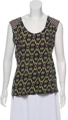Dries Van Noten Printed Sleeveless Top