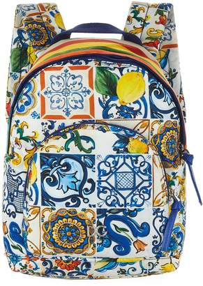 Dolce & Gabbana Majolica Logo Backpack