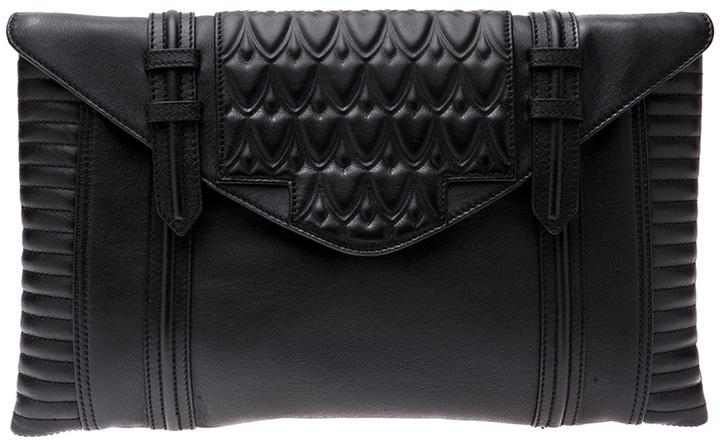 Hudson Reece Oversized leather clutch